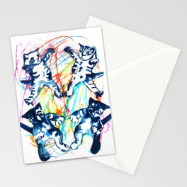 Cat Fight Stationery Cards