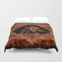 kitsune Duvet Covers featuring Kitsune by Carlo Spaziani