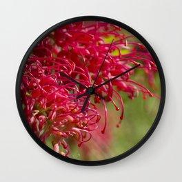 Flor roja Wall Clock