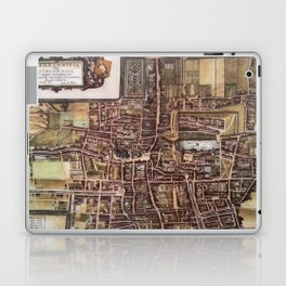 Replica city map of The Hague 1649 Laptop & iPad Skin