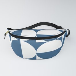 Mid century white and blue Fanny Pack