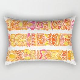 Tiki Totems – Orange Ombré Rectangular Pillow
