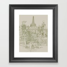 Paris! Musty Framed Art Print