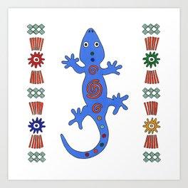 Lizard. Africa Art Print
