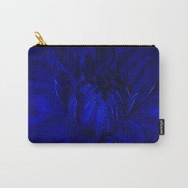 Royal Blue Fractal dahlia Carry-All Pouch