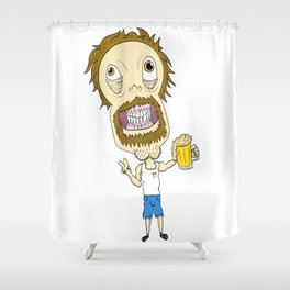Beer Man Shower Curtain
