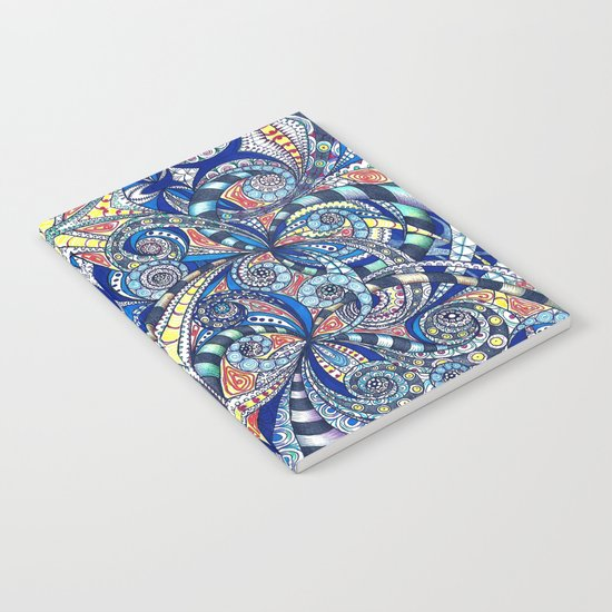 Drawing Floral Zentangle B7 Notebook