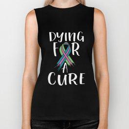 Metastatic Breast Cancer Awareness Art For Women Dark Biker Tank