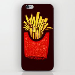 Would you like some fries with that? iPhone Skin