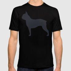 boston terrier silhouette MEDIUM Mens Fitted Tee Black