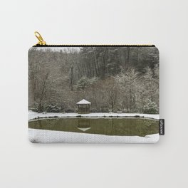 Snow at the Pond Carry-All Pouch