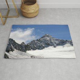 Mountain Summit Alpine Landscape Rug