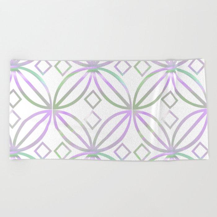 Floral Pattern - JUSTART (c) Beach Towel