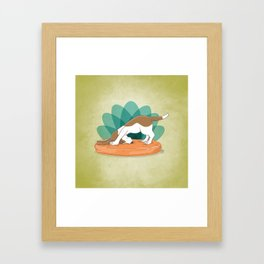 Basset Hound Downward Dog Framed Art Print