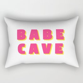 Babe cave - Pink and yellow Rectangular Pillow