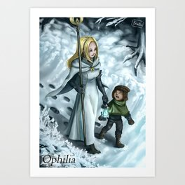 Octopath Traveler - Ophilia Art Print