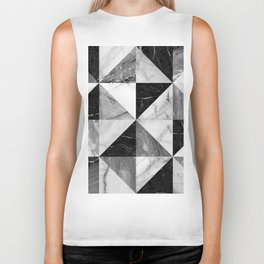 Marble Triangles Biker Tank