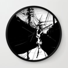 minima - beta bunny / noir Wall Clock