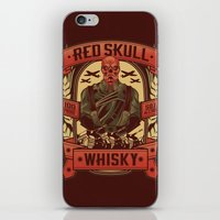 whisky iPhone & iPod Skins featuring Red Whisky by Corey Courts