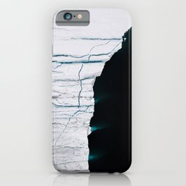 Black and White - Abstract minimal Iceberg aerial view in Greenland - Landscape Photography iPhone Case
