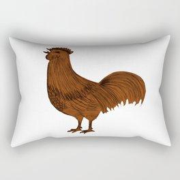 Rooster Design Rectangular Pillow