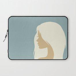 blonde girl in profile Laptop Sleeve