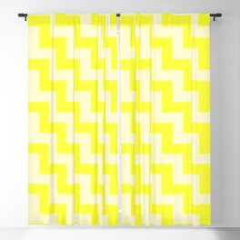 Cream Yellow and Electric Yellow Steps LTR Blackout Curtain