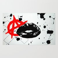 anarchy Area & Throw Rugs featuring Anarchy by Mike Lampkin