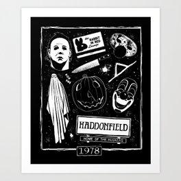 Welcome to Haddonfield! Art Print