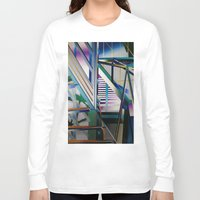 architecture Long Sleeve T-shirts featuring Architecture by Paris Martin
