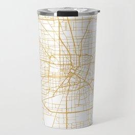 HOUSTON TEXAS CITY STREET MAP ART Travel Mug
