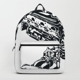 Machine Illustration Backpack