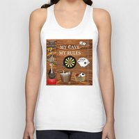 nick cave Tank Tops featuring Man Cave by LLL Creations