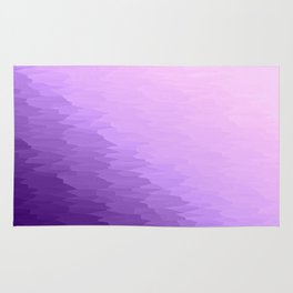 Lavender Texture Ombre Rug