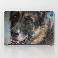 german shepherd iPad Cases featuring Portrait of a Shepherd - German Shepherd by Jai Johnson