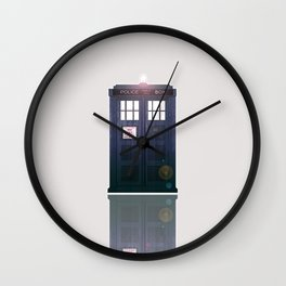 The Tardis Light Wall Clock