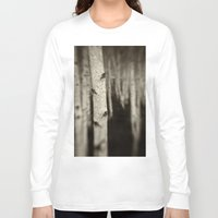birch Long Sleeve T-shirts featuring Silver Birch by David Turner
