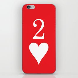 Two Of Hearts Graphic iPhone Skin
