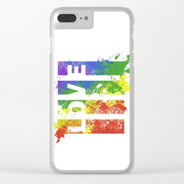 LOVE/COLOR Clear iPhone Case