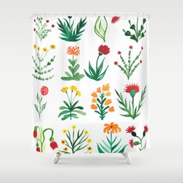 Wild flower pattern Shower Curtain