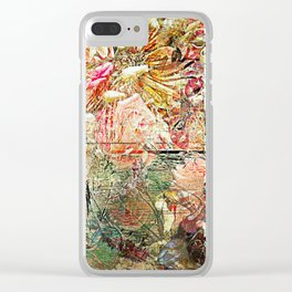 Funky Fantasy Floral Clear iPhone Case