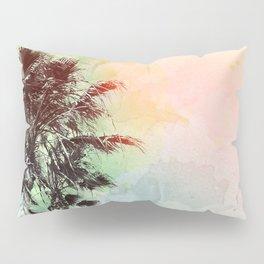 Watercolor Palm Trees- Rainbow Edition Pillow Sham