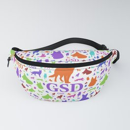 German Shepherd Dog Silhouettes - Color #2 Fanny Pack