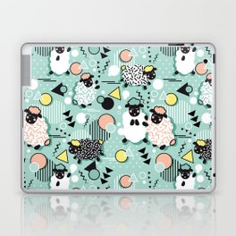 Mééé Memphis sheep // mint background Laptop & iPad Skin