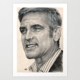 George Clooney Traditional Portrait Print Art Print