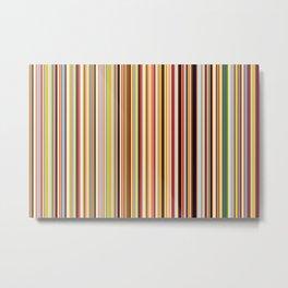 Old Skool Stripes Metal Print