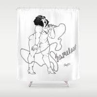 shameless Shower Curtains featuring Shameless by Roxy Morataya