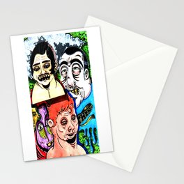 Street Faces Stationery Cards