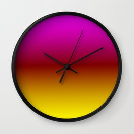 Sunset Ombre Wall Clock