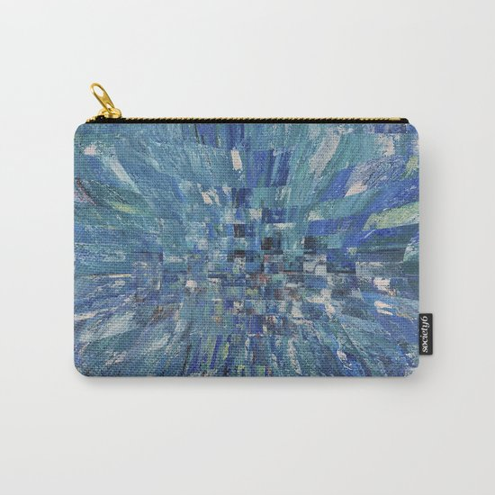 Abstract blue pattern 5 Carry-All Pouch